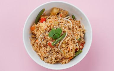 Смажений рис з овочами