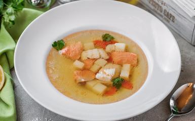 Суп c лососем и судаком
