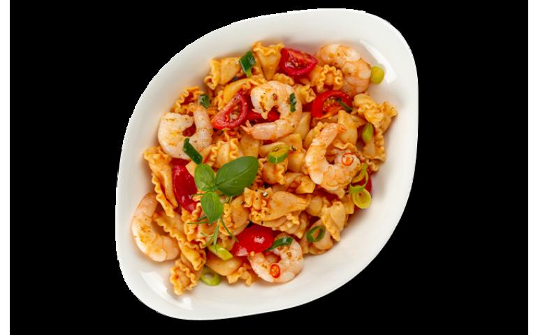 Паста з морепродуктами ГАМБЕРЕТТІ L ( середня порція)  рекомендовано з компанелле