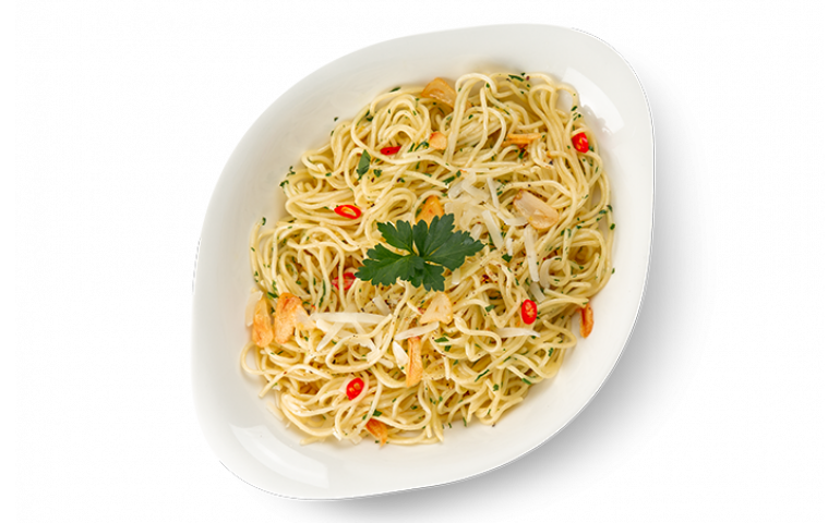Паста- основа АГЛІО Е ОЛІО L ( середня порція ) рекомендовано зі спагеті
