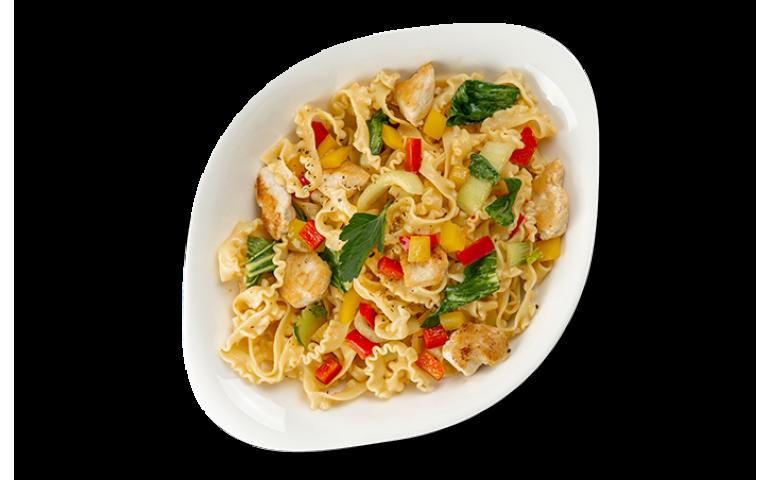 М`ясна паста ПОЛО ПІКАНТЕ L (середня порція)  рекомендоване з папарделла  – Vapiano